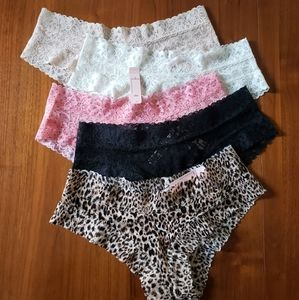 Victoria's Secret Lace Cheeky 5 Pack BNWT